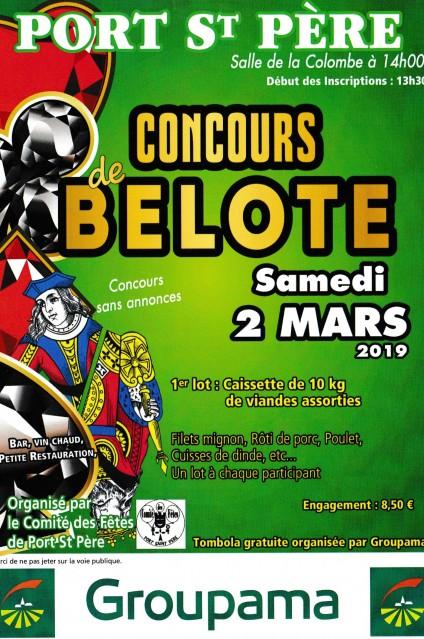 CONCOURS DE BELOTE - PORT ST PERE