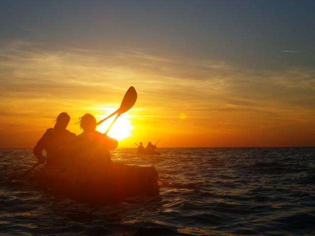 Balade en kayak au coucher du soleil Préfailles
