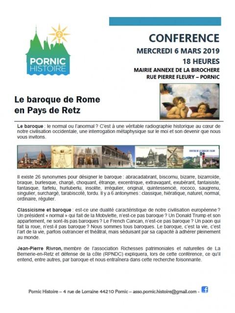 CAFE HISTOIRE: LE BAROQUE DE ROME EN PAYS DE RETZ