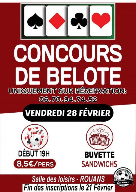CONCOURS DE BELOTE ESM