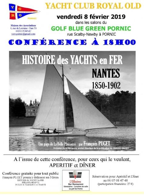 CONFERENCE: LES YACHTS NANTAIS EN FER 1850-1902 PORNIC