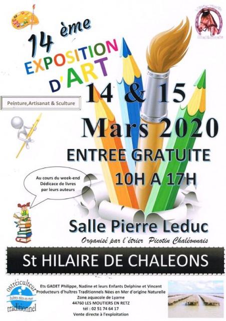 EXPOSITION D'ART - ST HILAIRE DE CHALEONS