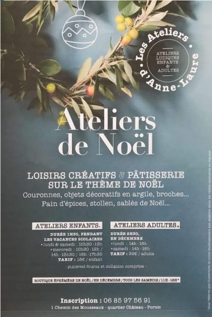 LES ATELIERS DE NOËL D'ANNE-LAURE POUR ENFANTS PORNIC