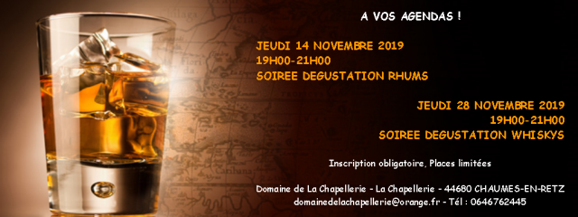 SOIREE DEGUSTATION DE WHISKYS