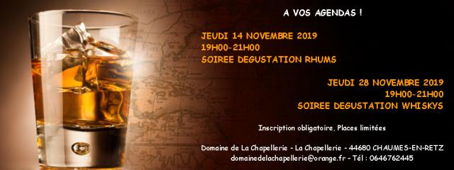 SOIREE DEGUSTATION DE RHUMS