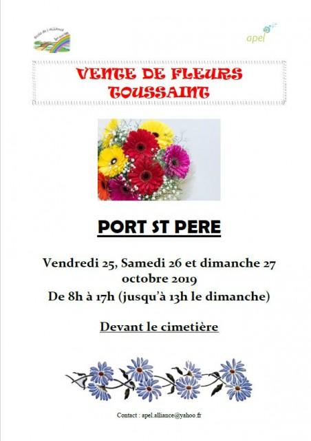 VENTE DE FLEURS - PORT ST PERE