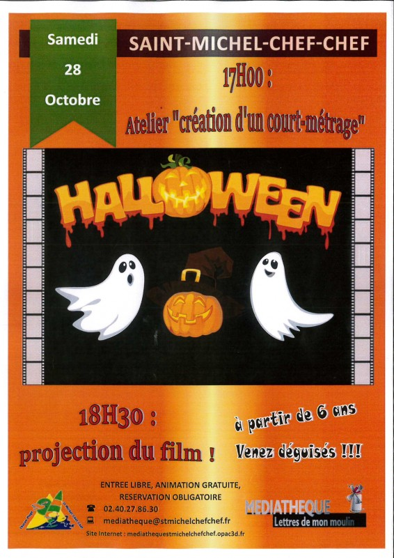 mediatheque,animations,lettres de mon moulin,st michel,chef chef, court métrage, halloween, creation court métrage