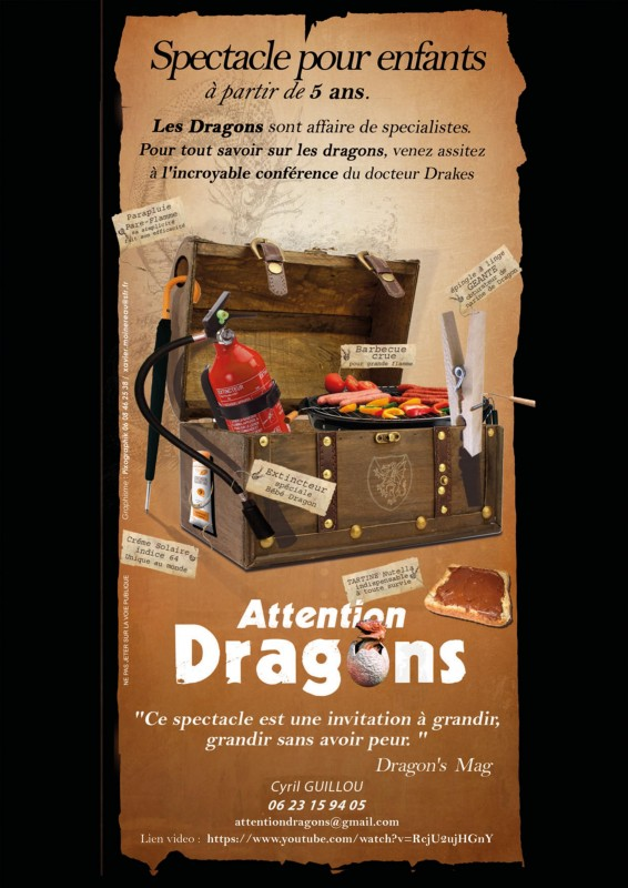Affiche attention dragons
