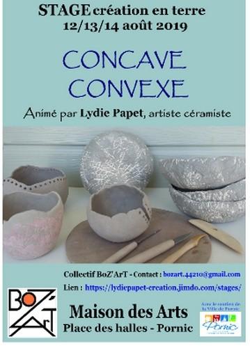 ATELIER CREATION EN TERRE: CONCAVE-CONVEXE PORNIC