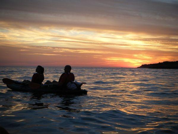 Balade en kayak au coucher de soleil