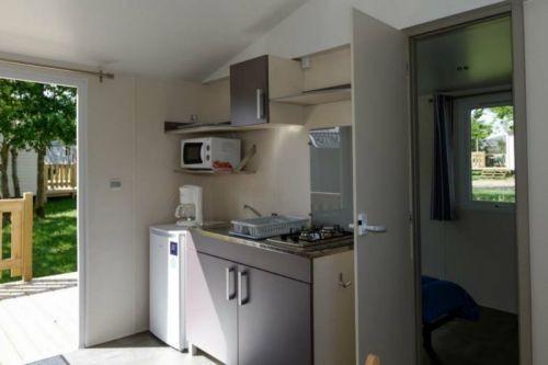 Cuisine cottage Lila 4 personnes camping la Chênaie