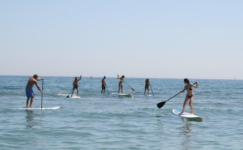 pornic groupe sortie en mer voilier glisse sensation club nautique plaisance voile paddle sup