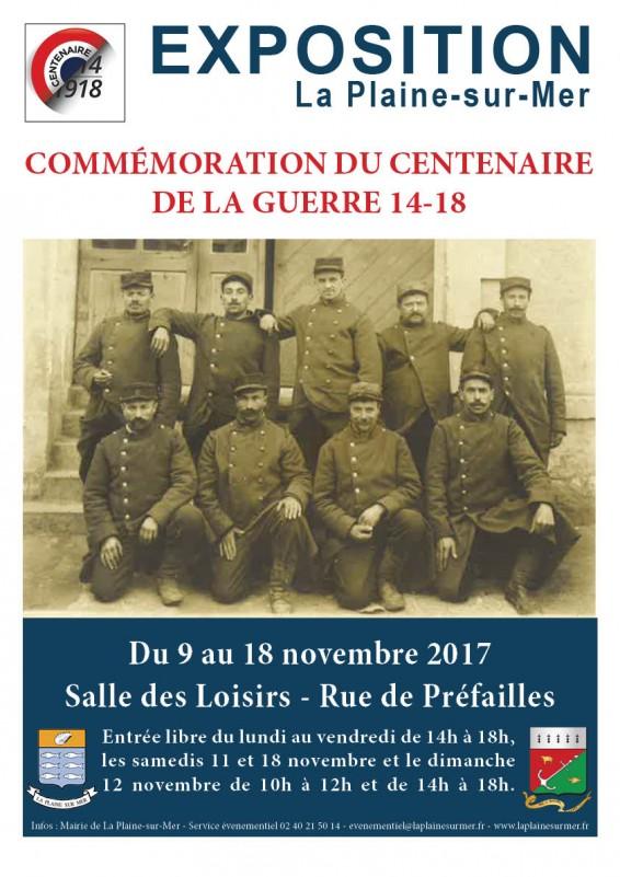 Exposition commémoration centenaire guerre 14-18