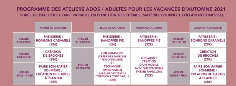 LES ATELIERS D'ANNE-LAURE: CUISINE/PÂTISSERIE -ADULTES ET ADO  PORNIC