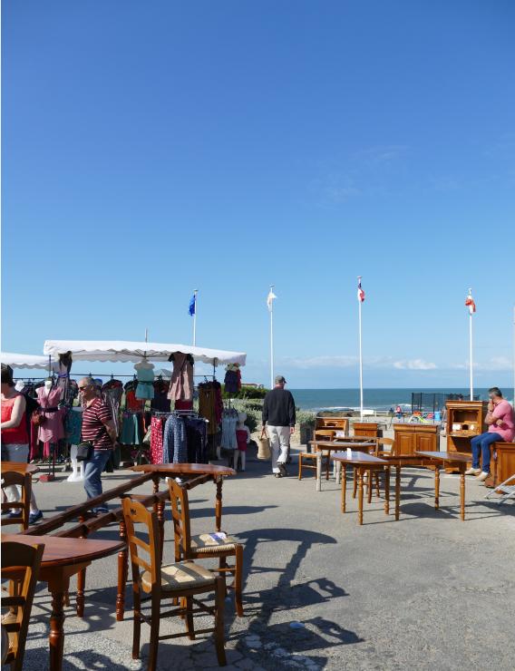 Marché de Préfailles vue mer