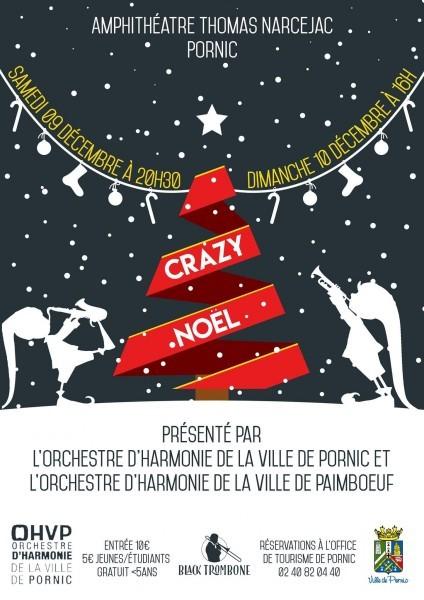 Orchestre d'Harmonie de la Ville de Pornic concert crazy noel destination pornic