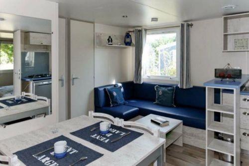 Séjour salon cottage cabane du Pêcheur La Chênaie