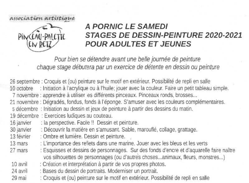 STAGE DE PEINTURE-DESSIN PORNIC